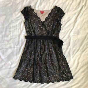 Elle Black Shimmer Cocktail Dress